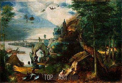 The Temptation of Saint Anthony, c.1550/75 | Bruegel the Elder | Painting Reproduction