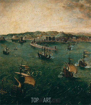 Naval Battle in the Gulf of Naples (Detail), c.1563 | Bruegel the Elder | Painting Reproduction