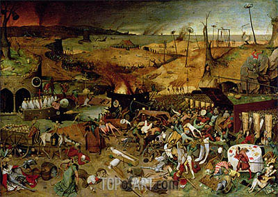 The Triumph of Death, c.1562 | Bruegel the Elder| Painting Reproduction