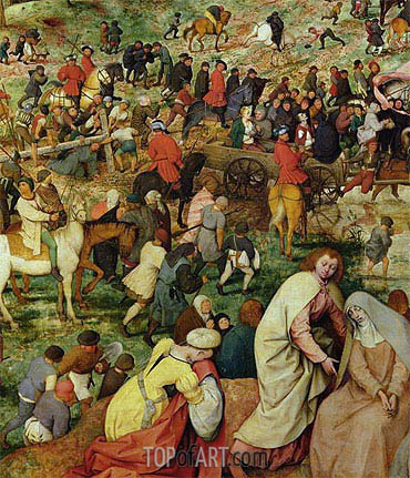 Bruegel the Elder | The Procession to Calvary (Detail), 1564