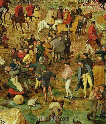 The Procession to Calvary (Detail), 1564 | Bruegel the Elder | Gemälde Reproduktion