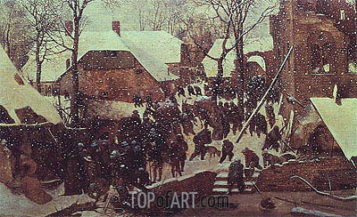 Adoration of the Magi in Winter Landscape, 1567 | Bruegel the Elder| Painting Reproduction