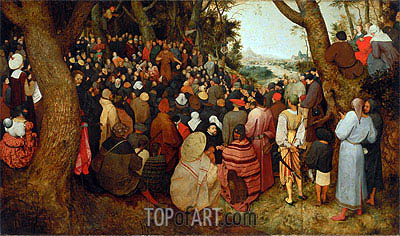 The Sermon of St. John the Baptist, 1566 | Bruegel the Elder| Gemälde Reproduktion