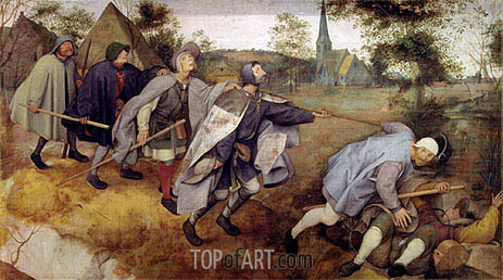 Parable of the Blind, 1568 | Bruegel the Elder| Painting Reproduction