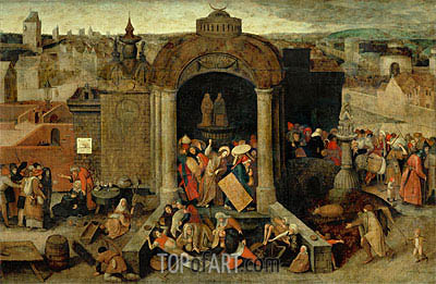 Christ Driving the Traders from the Temple, undated | Bruegel the Elder | Painting Reproduction