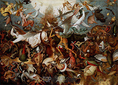 The Fall of the Rebel Angels, 1562 | Bruegel the Elder | Gemälde Reproduktion