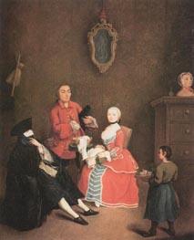 The Masked Visit, 1760 von Pietro Longhi | Gemälde-Reproduktion
