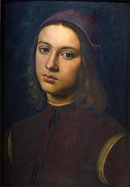 Portrait of a Young Man, 1495 von Perugino | Gemälde-Reproduktion