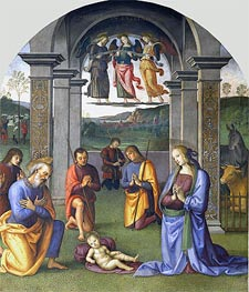 The Adoration of the Shepherds | Perugino | outdated