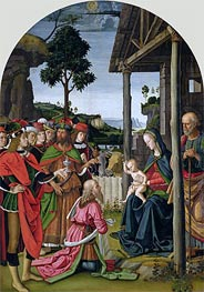 Adoration of the Magi, c.1476 von Perugino | Gemälde-Reproduktion