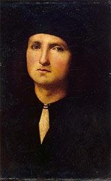 Portrait of a Young Man, c.1500 von Perugino | Gemälde-Reproduktion