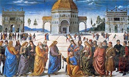 Delivery of the Keys to Saint Peter, 1481 von Perugino | Gemälde-Reproduktion