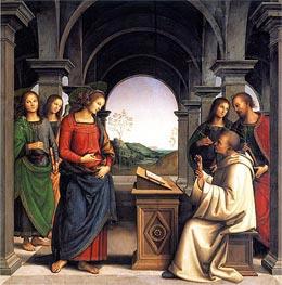 Vision of Saint Bernard, c.1489/93 von Perugino | Gemälde-Reproduktion