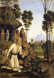 Saint Jerome in the Wilderness, c.1490/00 von Perugino | Gemälde-Reproduktion