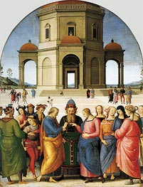 Marriage of the Virgin | Perugino | Gemälde Reproduktion