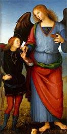 Archangel Raphael with Tobias (Certosa Altarpiece) | Perugino | veraltet