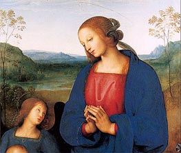 Detail - The Virgin and Child with an Angel (Certosa Altarpiece) | Perugino | Gemälde Reproduktion