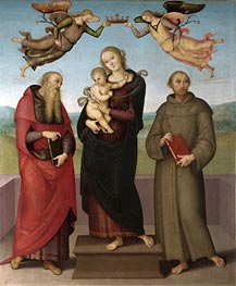 The Virgin and Child with Saints Jerome and Francis | Perugino | Gemälde Reproduktion
