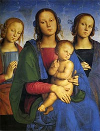 Madonna and Child with St. Catherine and St. Rosa | Perugino | veraltet