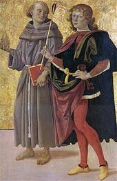 Saint Antonio da Padova and Saint Sebastiano | Perugino | Gemälde Reproduktion
