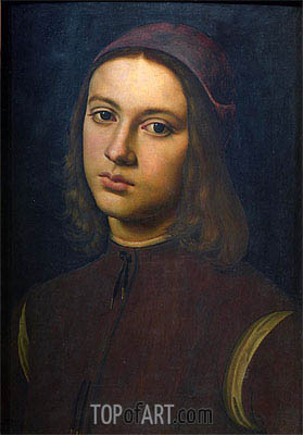 Portrait of a Young Man, 1495 | Perugino | Painting Reproduction