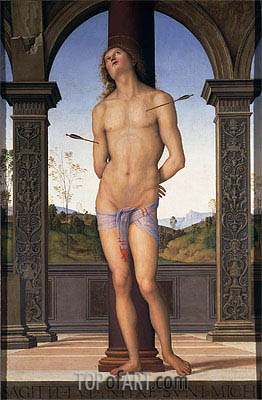 St. Sebastian, Undated | Perugino | Painting Reproduction