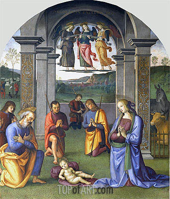 Perugino | The Adoration of the Shepherds, c.1496/00