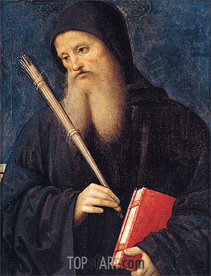 St. Benedict,  | Perugino | Painting Reproduction