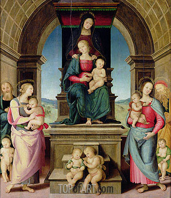 The Family of St. Anne, c.1507 | Perugino | Painting Reproduction