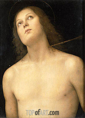 St. Sebastian, c.1495 | Perugino | Painting Reproduction