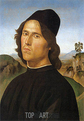 Portrait of Lorenzo di Credi, 1488 | Perugino | Painting Reproduction