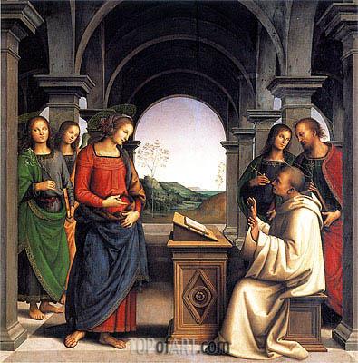 Perugino | Vision of Saint Bernard, c.1489/93