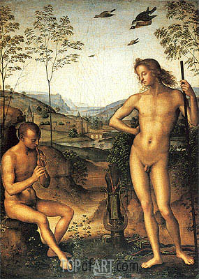Apollo and Marsyas, c.1490/92 | Perugino | Painting Reproduction