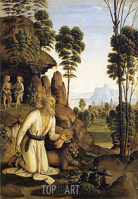 Saint Jerome in the Wilderness, c.1490/00 | Perugino | Gemälde Reproduktion