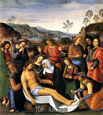 Lamentation over the Dead Christ, 1495 | Perugino | Painting Reproduction