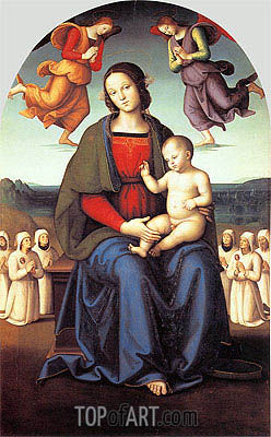 Madonna of the Confraternity of the Consolazione, c.1496/98 | Perugino | Painting Reproduction