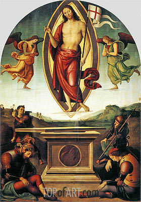 Resurrection of Christ, c.1499 | Perugino | Gemälde Reproduktion
