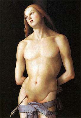 Saint Sebastian, c.1500 | Perugino | Painting Reproduction