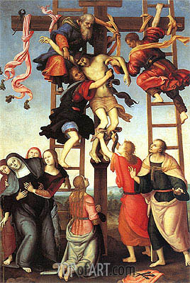 Deposition of the Cross, c.1503/06 | Perugino | Gemälde Reproduktion
