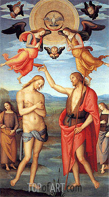 Baptism of Christ, 1512 | Perugino | Gemälde Reproduktion