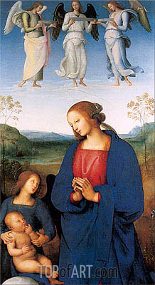 Perugino | The Virgin and Child with an Angel (Certosa Altarpiece), c.1496/00