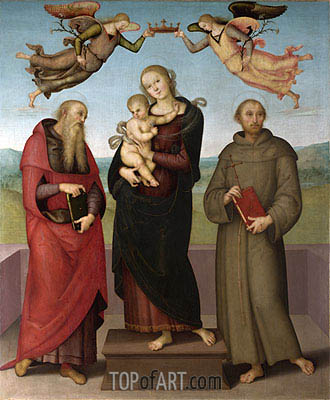 The Virgin and Child with Saints Jerome and Francis, c.1507/15 | Perugino | Painting Reproduction