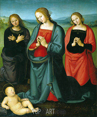 Madonna and Saints Adoring the Child,  | Perugino | Painting Reproduction
