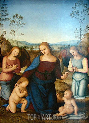 Perugino | Virgin and Child with St. John the Baptist and Two Angels, 1505