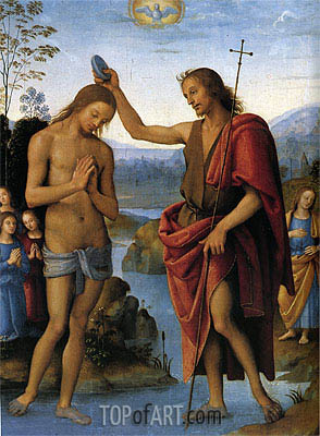 Baptism of Christ, c.1498/00 | Perugino | Painting Reproduction
