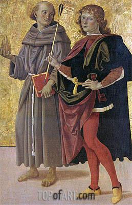 Perugino | Saint Antonio da Padova and Saint Sebastiano, c.1476/78