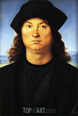 Portrait of a Man, c.1480/85 | Perugino | Painting Reproduction