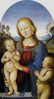 Perugino | Madonna and Child with Saint John, c.1480/85