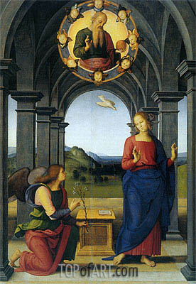 Annunciation, c.1489 | Perugino | Painting Reproduction