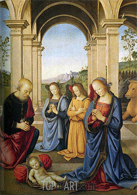 Christ's Birth, 1491 | Perugino | Painting Reproduction